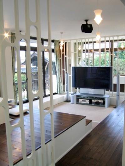 SZ-houose/平屋のリノベーション住宅 (リビング)
