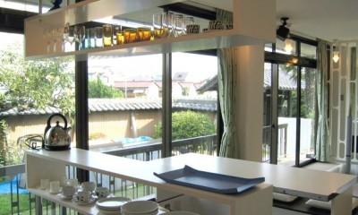 キッチンの造作棚|SZ-houose/平屋のリノベーション住宅