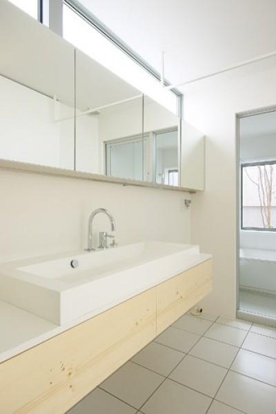 洗面脱衣室 (井原の家)