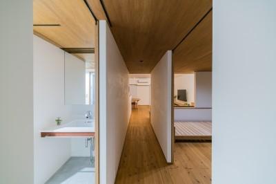 洗面・寝室 (ひらく間-全ての「間」がつながるマンション-)