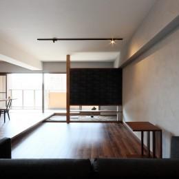 部屋の中に日本庭園のある和モダンリノベーション