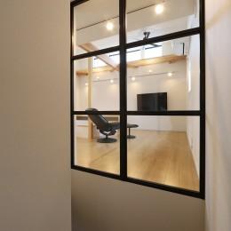 外部の視線を気にしない2階LDKの家