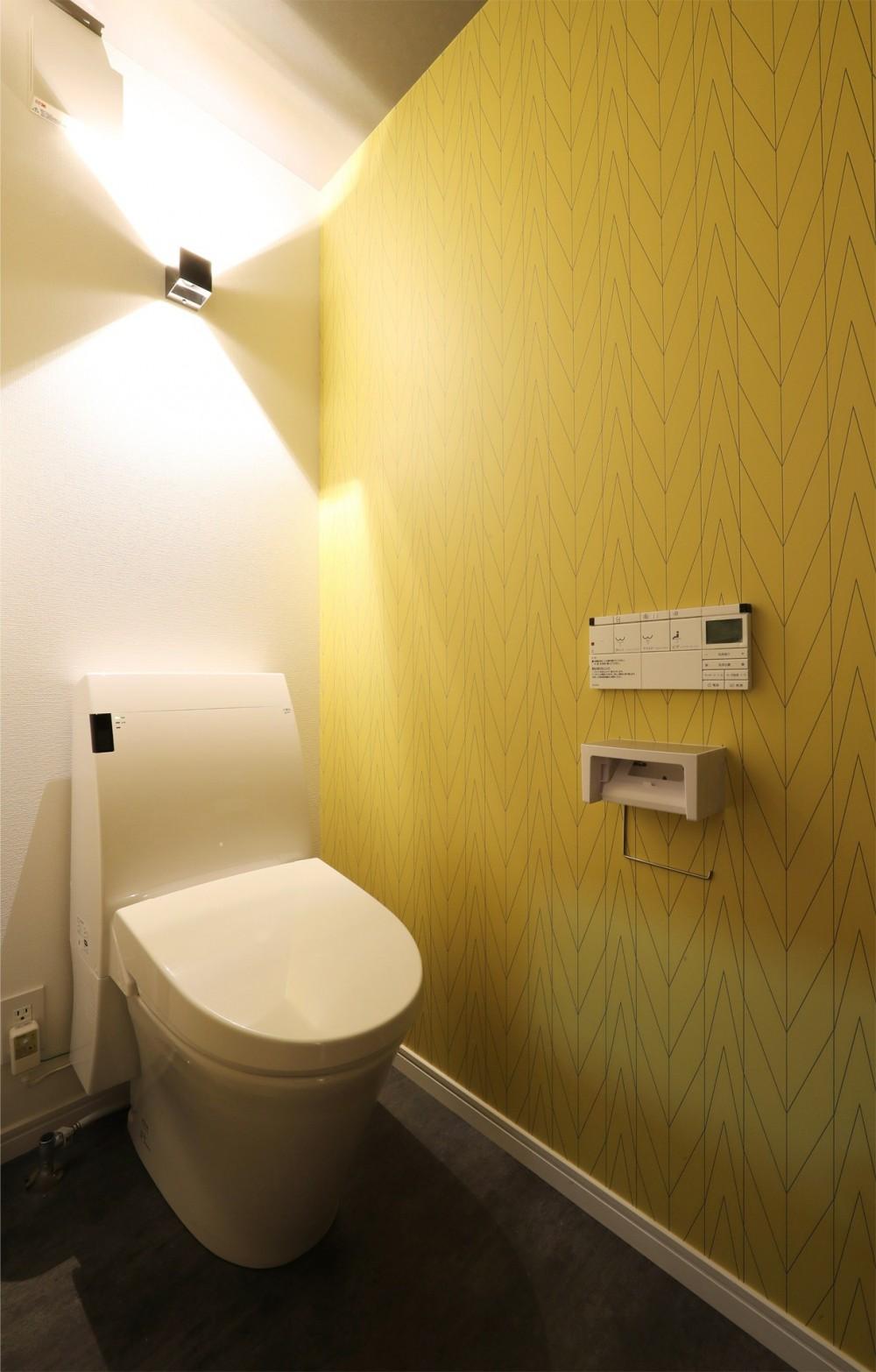 外部の視線を気にしない2階LDKの家 (トイレ)