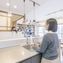 WAKON - 和魂洋才!?飾って囲って収納力UPの駅近マンションリノベーションの写真 キッチン