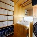 蓮田の家-大きな窓とデッキのある二世帯住宅-の写真 洗面室
