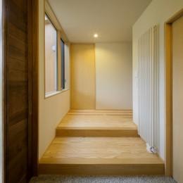 『上駒沢の家』プライベートを大切にした二世帯住宅 (玄関)