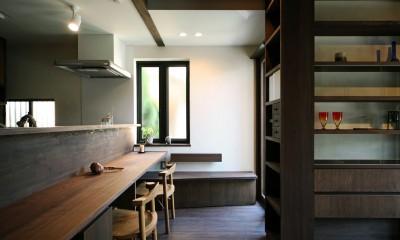 ちはら台の家 ー家も人も生まれ変わるリノベーションー (キッチンダイニング)