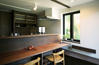 キッチン ダイニング (ちはら台の家-築19年のフルリノベーション-)