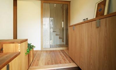 ちはら台の家-築19年のフルリノベーション- (玄関)