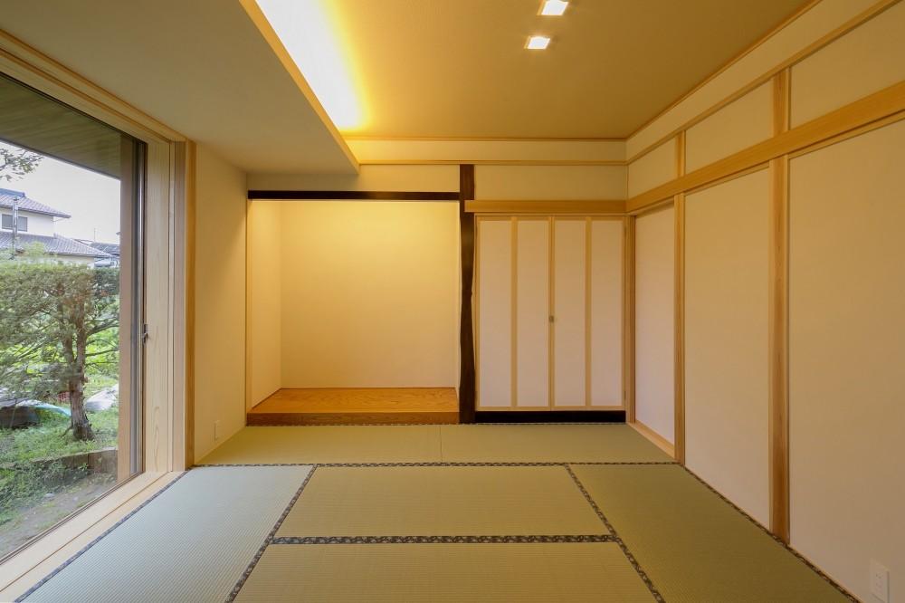 『上駒沢の家』プライベートを大切にした二世帯住宅 (和室)