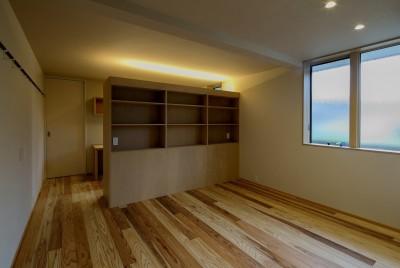 寝室 (『上駒沢の家』プライベートを大切にした二世帯住宅)