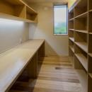 『上駒沢の家』プライベートを大切にした二世帯住宅の写真 書斎スペース