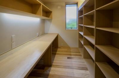 書斎スペース (『上駒沢の家』)