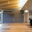 『上駒沢の家』プライベートを大切にした二世帯住宅の写真 リビング(子世帯)