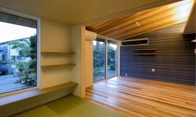 『上駒沢の家』プライベートを大切にした二世帯住宅 (和室(子世帯))