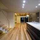 『上駒沢の家』プライベートを大切にした二世帯住宅の写真 LDK(子世帯)