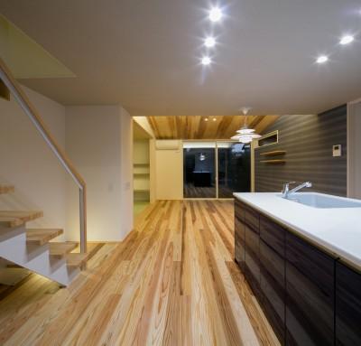 『上駒沢の家』プライベートを大切にした二世帯住宅 (LDK(子世帯))