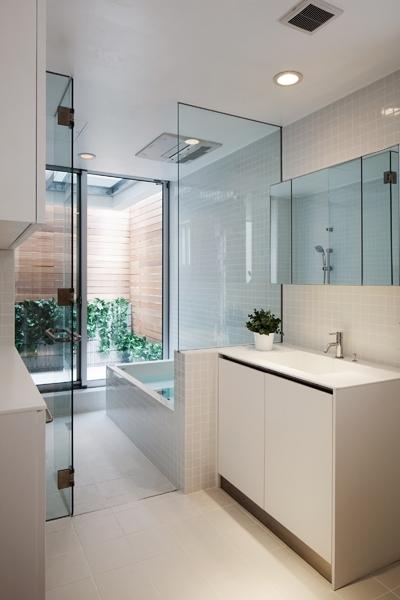 浴室洗面室 (中目黒の家)