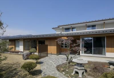 『上駒沢の家』プライベートを大切にした二世帯住宅 (親世帯のファサード)