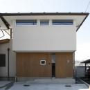 『上駒沢の家』プライベートを大切にした二世帯住宅の写真 子世帯のファサード