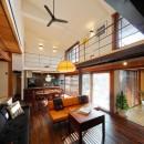 築50年木造の家-古きよき姿を残しながら住み継ぐリノベーション-の写真 リフォームで洗練された姿に生まれ変わったリビング