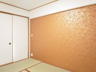 和室 (モノトーンでまとめてシンプル、シックに)