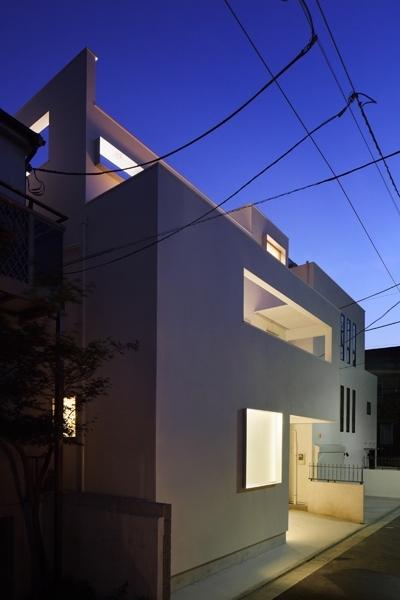 中目黒の家 (外観夜景)