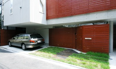浅草の家―2階にある庭