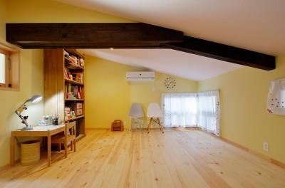 優しいパステルカラーの子供部屋 (築50年木造の家-古きよき姿を残しながら住み継ぐリノベーション-)