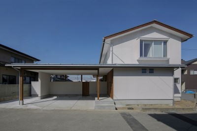 『須坂屋部町の家』思いっきり遊べる庭がある家 (外観)