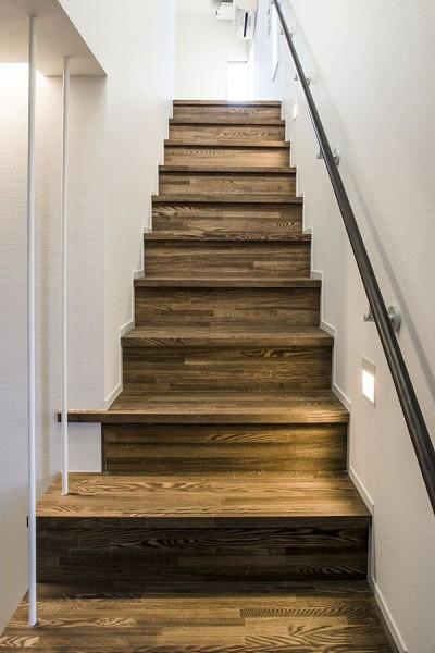 階段 (三つの陸屋根を持つコートハウス)