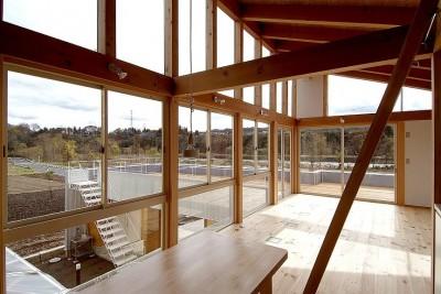 二世帯で楽しく暮らす家|吾妻川の家 (子世帯リビング)