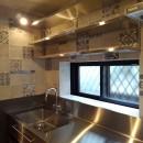 リノベーション住宅3の写真 オールステンレスのオーダーメイドキッチン