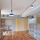 カグ ノ モリ - 壁面全面造作家具のリノベーション -の写真 LDKから個室の眺め