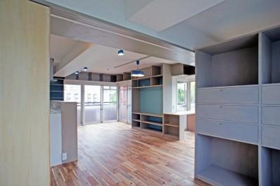 カグ ノ モリ - 壁面全面造作家具のリノベーション - (個室からの眺め)