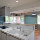 カグ ノ モリ - 壁面全面造作家具のリノベーション -の写真 キッチンからの眺め
