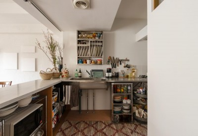 フレンチシックな「妻っぽい家」 (キッチン)