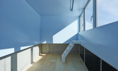 地上に浮いた地下の家 -高密度商業地域に立つRC3階建ガレージハウス- (客室)