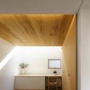 二世帯の生活を中庭が繋ぐ( 大東の家 )の写真 寝室