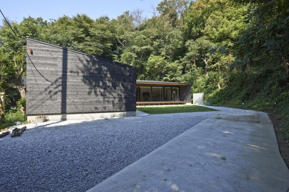 稲村ヶ崎の住宅 - 建物と自然からうまれる平屋中庭住宅 - (アプローチ)