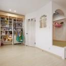 お子様が喜ぶアイデアいっぱいの楽しいお家の写真 家族の時間を共有できるスペース