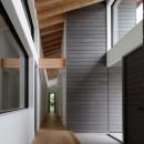 佐倉の別荘 子育て世代の週末住宅の写真 天井の高いエントランスホール