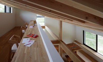 ロフトのファミリールーム|佐倉の別荘 子育て世代の週末住宅
