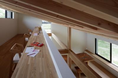 ロフトのファミリールーム (佐倉の別荘 子育て世代の週末住宅)