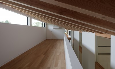 佐倉の別荘 子育て世代の週末住宅 (ロフトのゲストスペース)