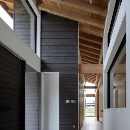 佐倉の別荘 子育て世代の週末住宅 (天井の高いエントランスホール)