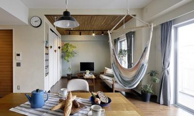 遊び心のきいたカフェ風空間