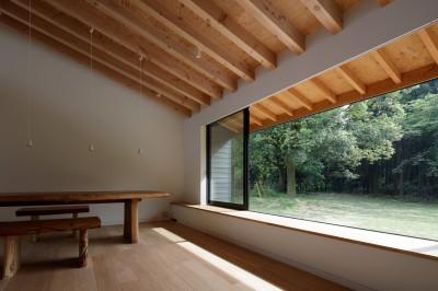 リビングダイニング (佐倉の別荘 子育て世代の週末住宅)