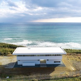 建物外観 (水平線の家 大海原の風景と暮らす家)