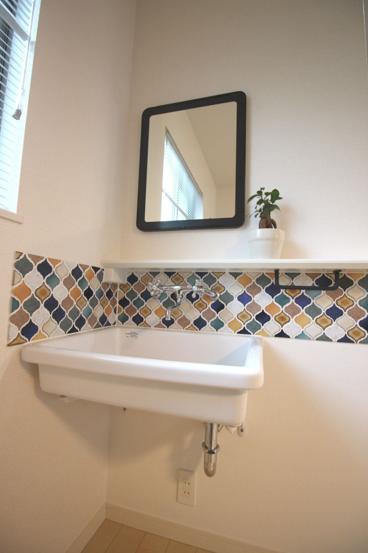洗面台 (オリジナル!かわいらしさと便利さがうれしい造作手洗器)